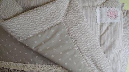 Patchwork Decke beige